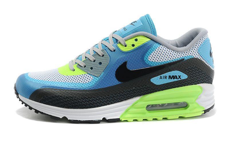 brand new 39075 a1684 Nike Air Max 90 Lunar Confort 3.0 Femme Lime Noir Bleu Feyamagic Offre   62457934