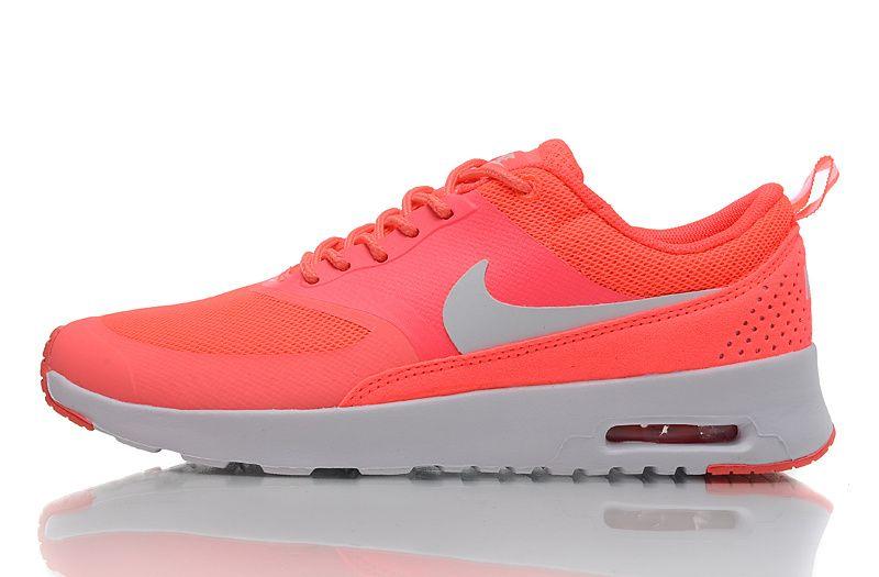 sports shoes f529c f84f0 Nike Air Max Thea Femme Saumon Rouge ArgentÉ Feyamagic Offre  62458053