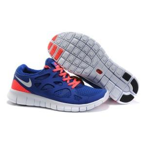 wholesale dealer 96843 2c79c Nike Free Run+ 2 Chaussures de Course Pied Pour Homme Bleu Foncé Rose Blanc