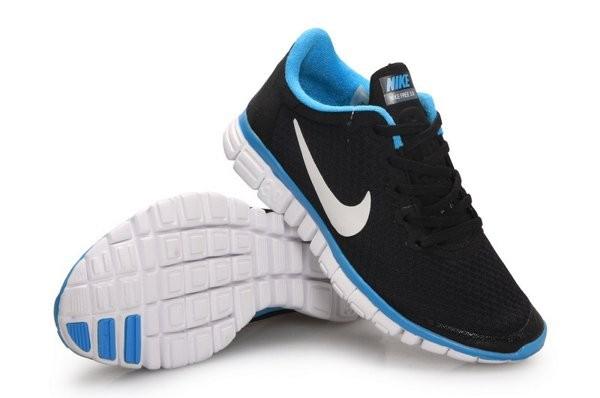 timeless design 145d0 e9ebc Nike Free 3.0 V2 Chaussures de Course Pied pour Homme Noir Bleu Blanc