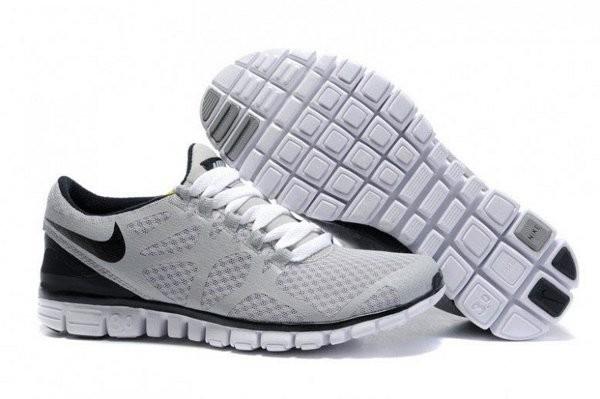 outlet store e1753 bfbc9 Nike Free 3.0 V3 Chaussures de Course Pied pour Femme Gris Noir Blanc