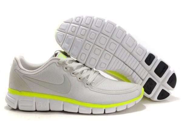 new products ac1ce ba237 Nike Free 5.0 V4 Chaussures de Course Pied pour Homme Gris Jaune