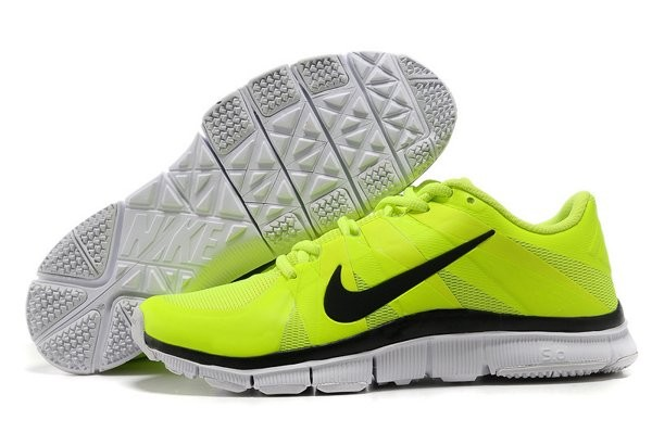 competitive price 1289a 70b74 Nike Free Trainer 5.0 Chaussures de Training Pour Homme Vert jaune Noir  Blanc